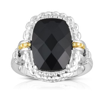 Sterling Silver & 18K Gold Gemstone Cocktail Ring