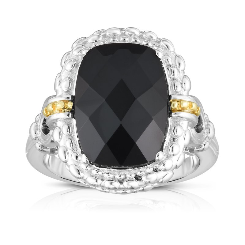 Royal Chain Sterling Silver & 18K Gold Gemstone Cocktail Ring