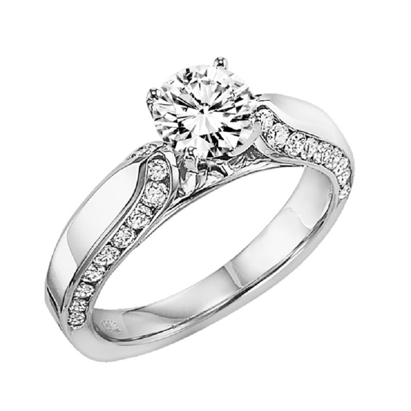 Bridal Bells 14K Diamond Engagement Ring 1/2 ctw with 1 ct Center