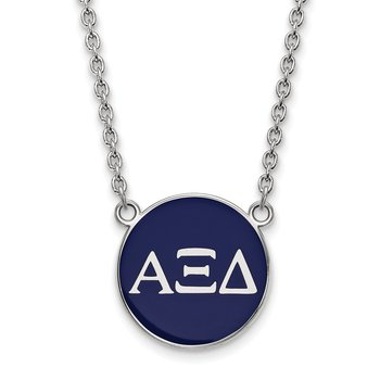 Sterling Silver Alpha Xi Delta Greek Life Necklace