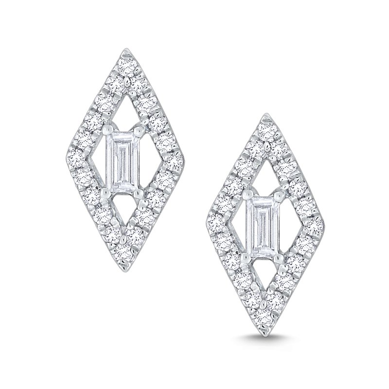 KC Designs Diamond Kite Shaped Mosaic Studs Set in 14 Kt. Gold