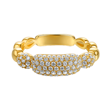 14K DOME DESIGN RING WITH 107 DIAMONDS 0.66CT