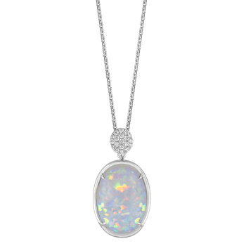 Opal & Diamond Necklace