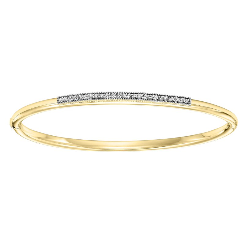 Gemsone Silver Yellow Bangle