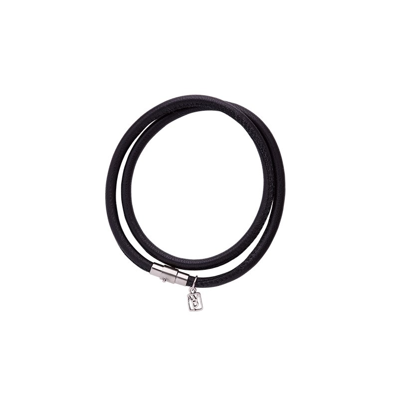 Waxing Poetic Nestel Leather Bracelet-Ebony