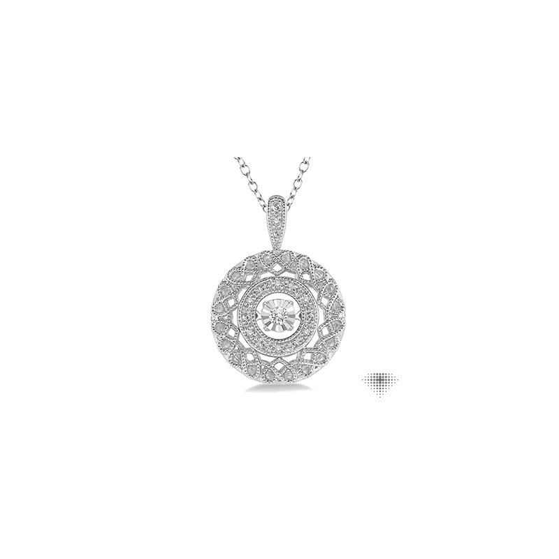 Emotion Diamonds Silver Emotion Diamond Pendant