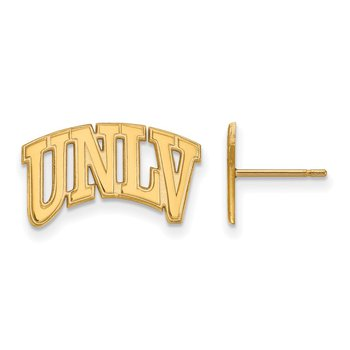Gold-Plated Sterling Silver University of Nevada Las Vegas NCAA Earrings