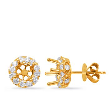Halo Diamond Earring For .50cttw round