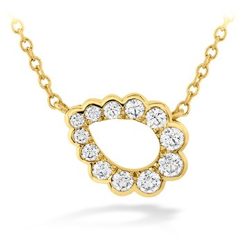 0.3 ctw. Aerial Regal Scroll Teardrop Necklace