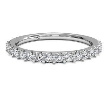 French Set Diamond Wedding Band