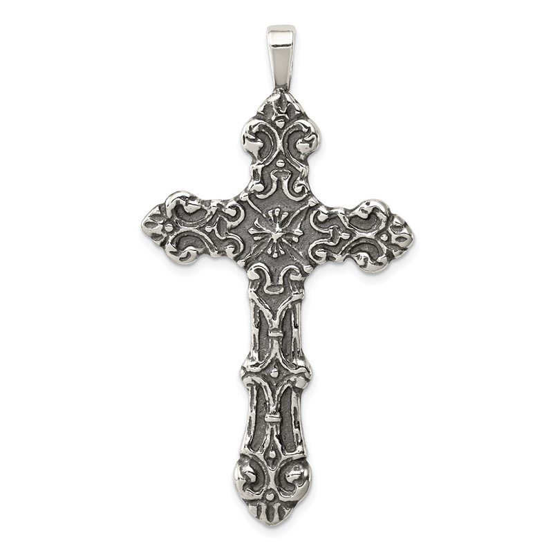 J.F. Kruse Signature Collection Sterling Silver Cross Pendant