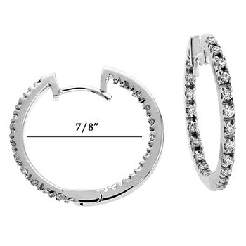 White Gold Diamond Hoop Earr