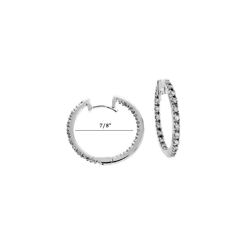 S. Kashi  & Sons White Gold Diamond Hoop Earr