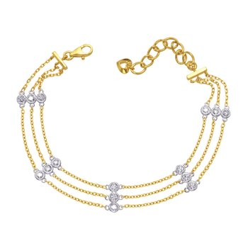 Yellow Gold Diamond By The Yard Bracelet