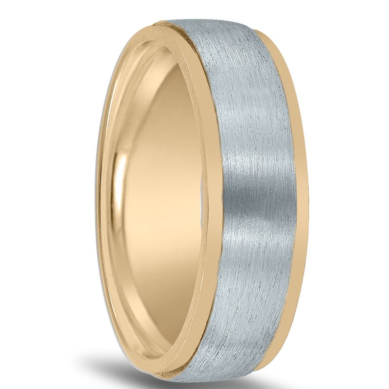 Novell Men's Two-tone Wedding Band NT16633 by Novell