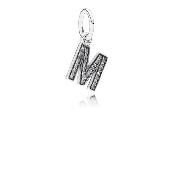 Letter M, Clear CZ