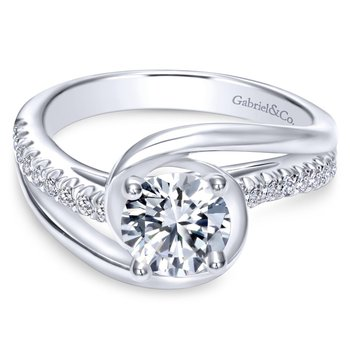 Round Bypass Engagement Ring