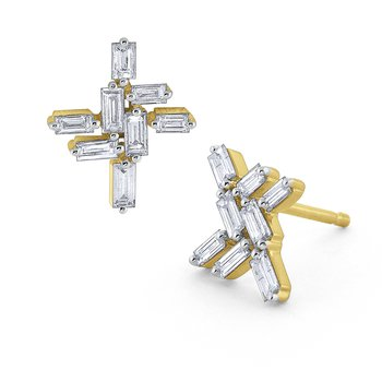 Diamond Mosaic Post Earring