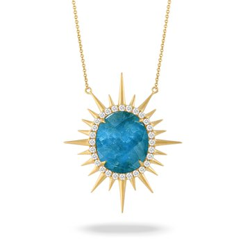 Laguna Sunburst Necklace 18KY