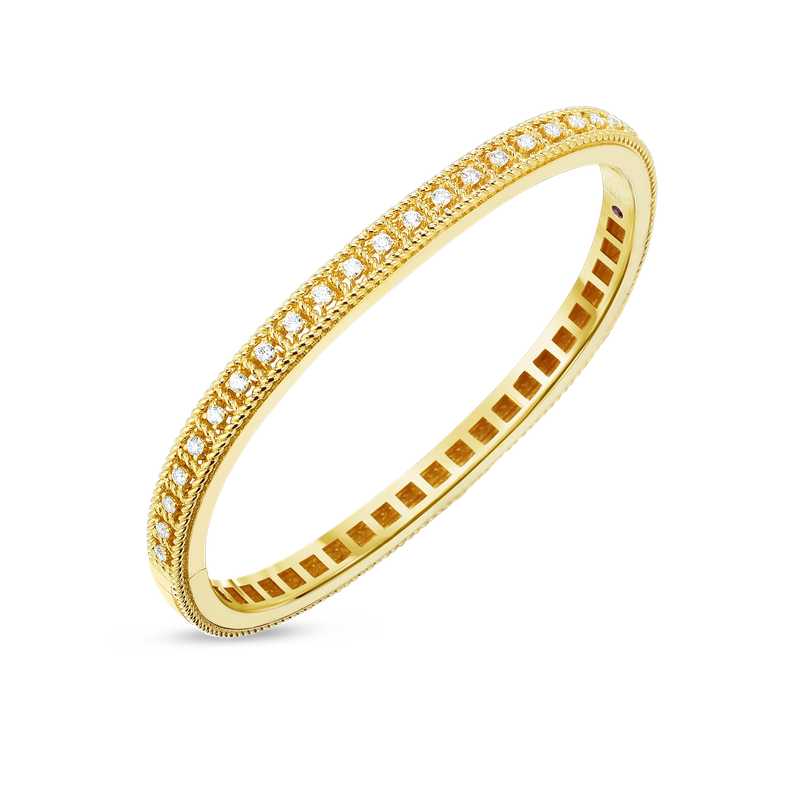 Roberto Coin 18Kt Gold Bangle With Diamonds