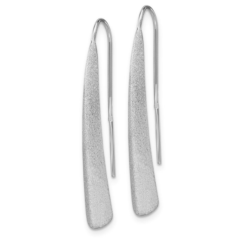 Leslie's Leslie's Sterling Silver Polished and Brushed Earrings
