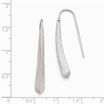Leslie's Sterling Silver Polished and Brushed Earrings