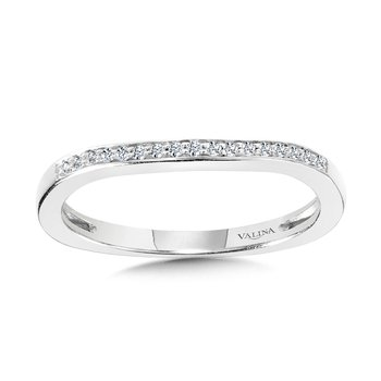 Channel & Prong Set Diamond Wedding Band