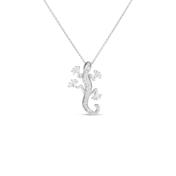 Gecko Pendant With Diamonds