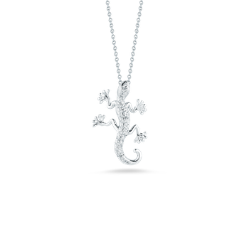 18Kt Gold Gecko Pendant With Diamonds