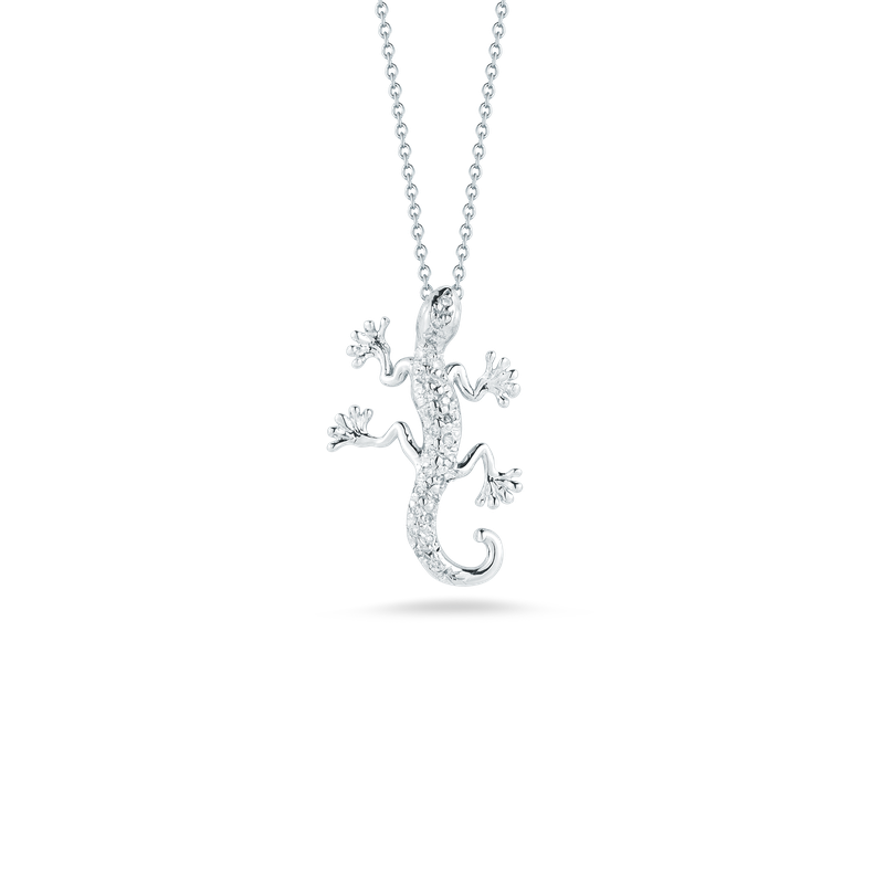 Roberto Coin 18Kt Gold Gecko Pendant With Diamonds