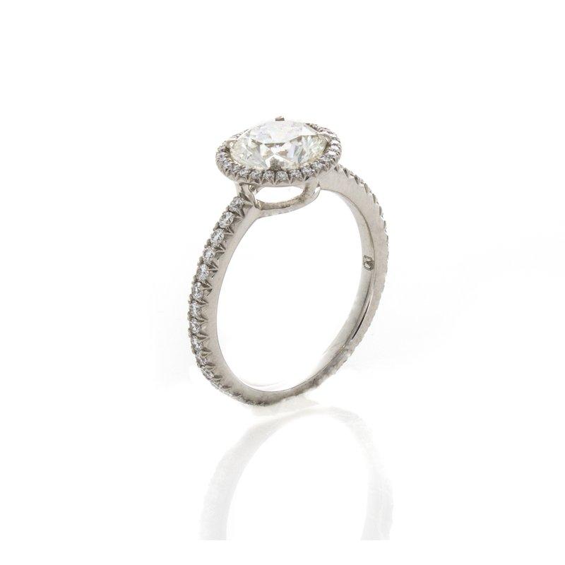 William Levine Brilliant Cut Halo Diamond Ring Fredric