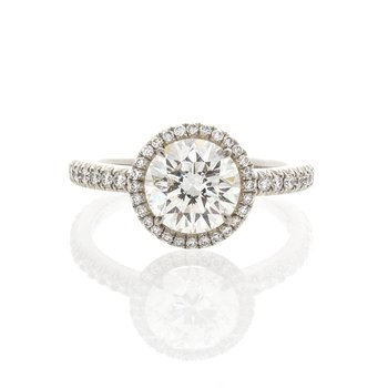 BRILLIANT CUT HALO DIAMOND RING