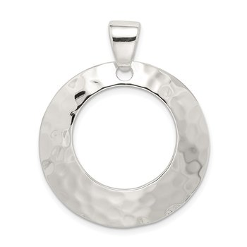Sterling Silver Hammered Circle Pendant