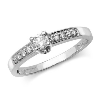 Diamond Solitaire Set Shoulders