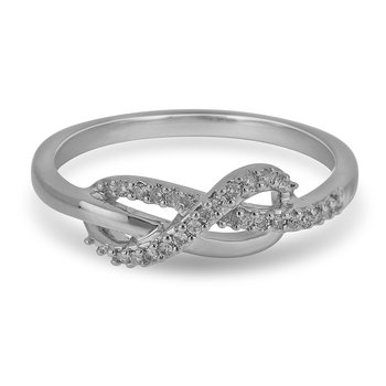 10K WG Diamond Infinity Ring in Prong Setting