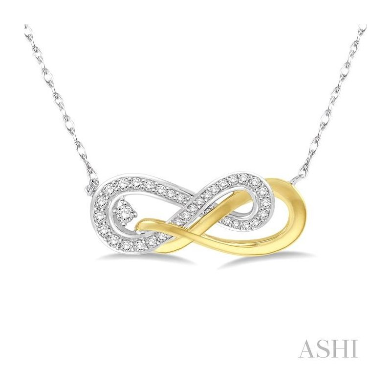 ASHI infinity diamond necklace