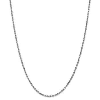 Leslie's 14K White Gold 2.50mm Diamond Cut Rope Chain