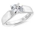 Valina Bridals Mounting with side stones .33 ct. tw., 3/4 ct. round center.