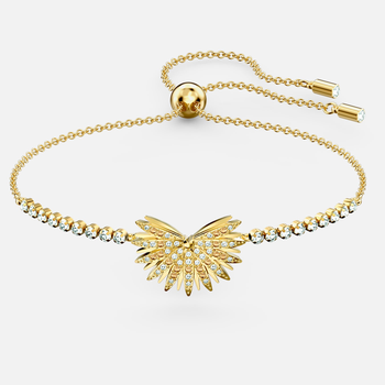 Swarovski Symbolic Palm Bracelet, Light multi-colored, Gold-tone plated