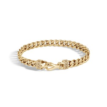 Asli Classic Chain Curb Link 8MM Bracelet in 18K Gold
