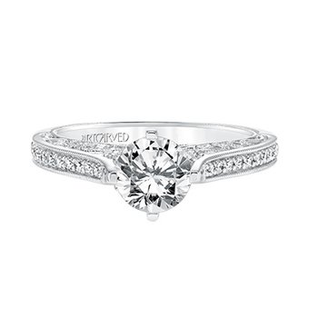 Vintage Diamond Engagement Semi