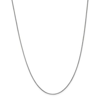 Leslie's 14K White Gold 1mm Box Chain