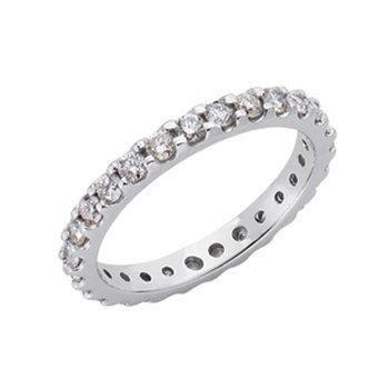 Eternity White Gold Band