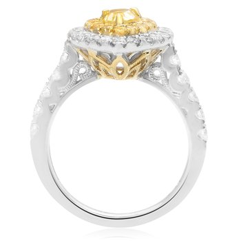 Paved Shank Pear-shaped Diamond Ring