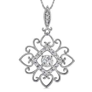 Diamond Pendant in 14K White Gold (.18 ct. tw.)
