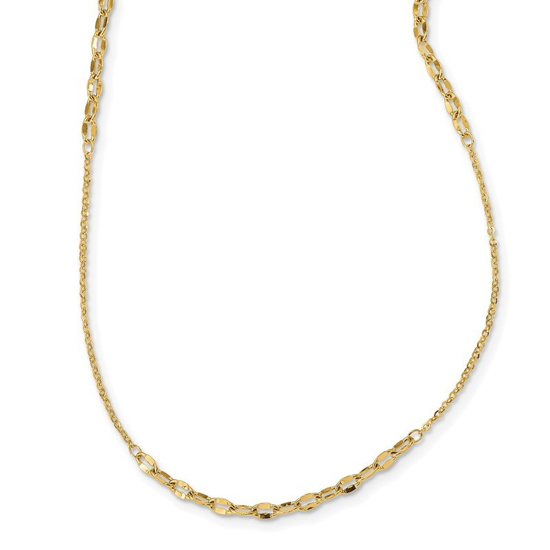 Quality Gold 14K Fancy Chain Necklace