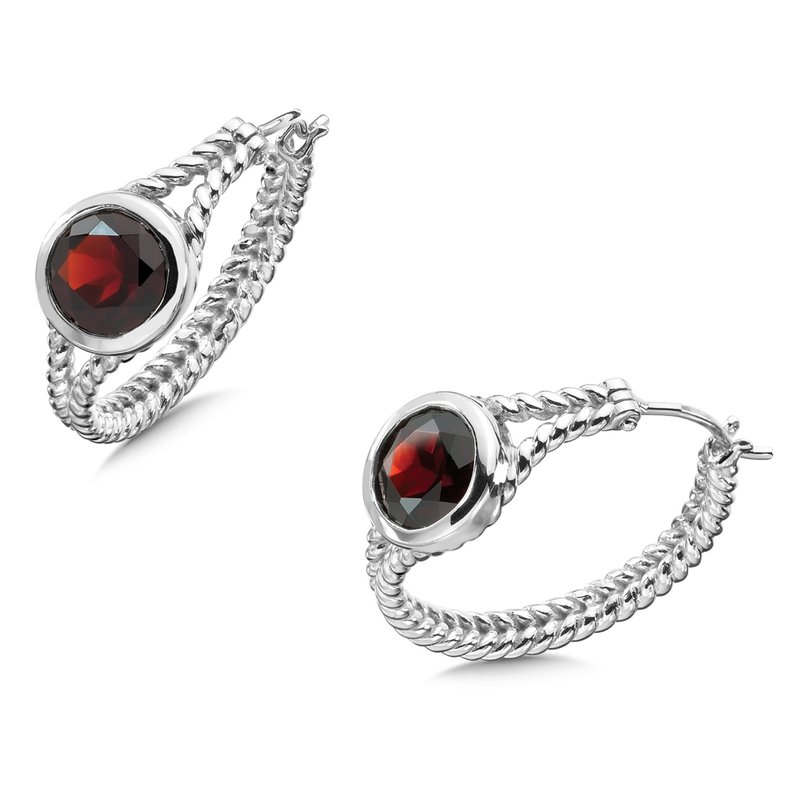 Colore Sg Sterling Silver & Garnet Earrings