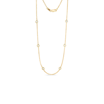 #26664 Of 18Kt Gold 10 Station Diamond Necklace