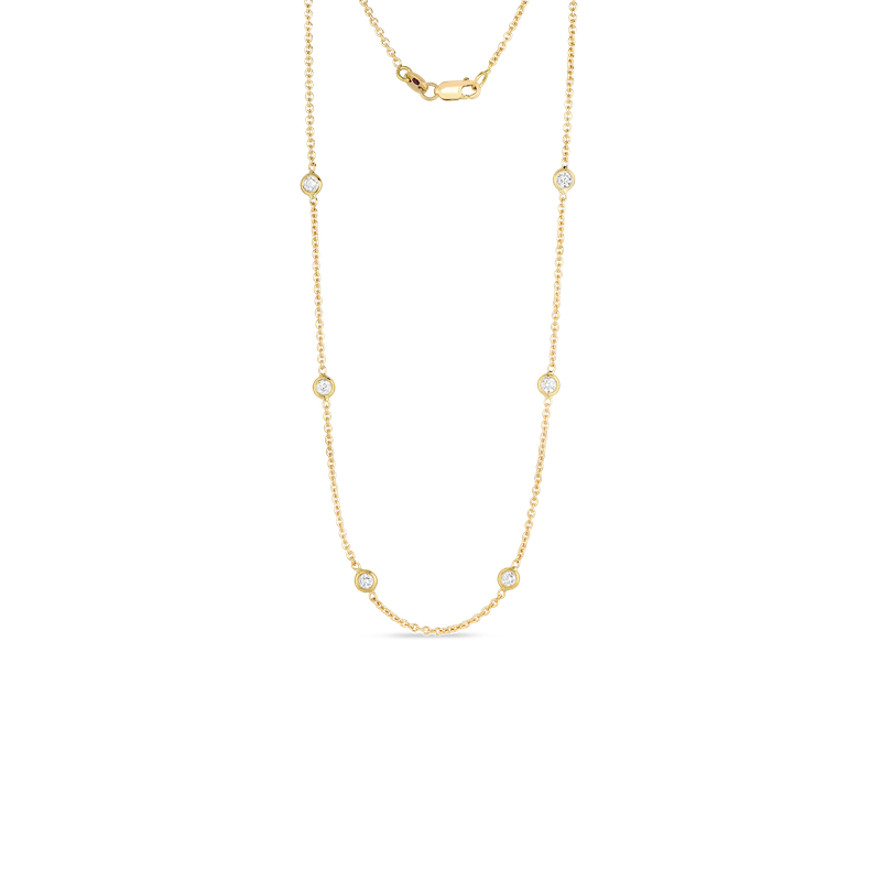 Roberto Coin  #26664 Of 18Kt Gold 10 Station Diamond Necklace