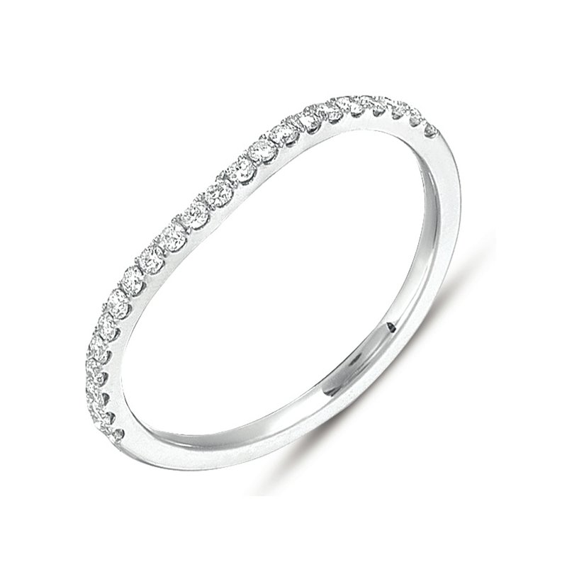 S. Kashi & Sons Bridal White Gold Diamond Curved Band